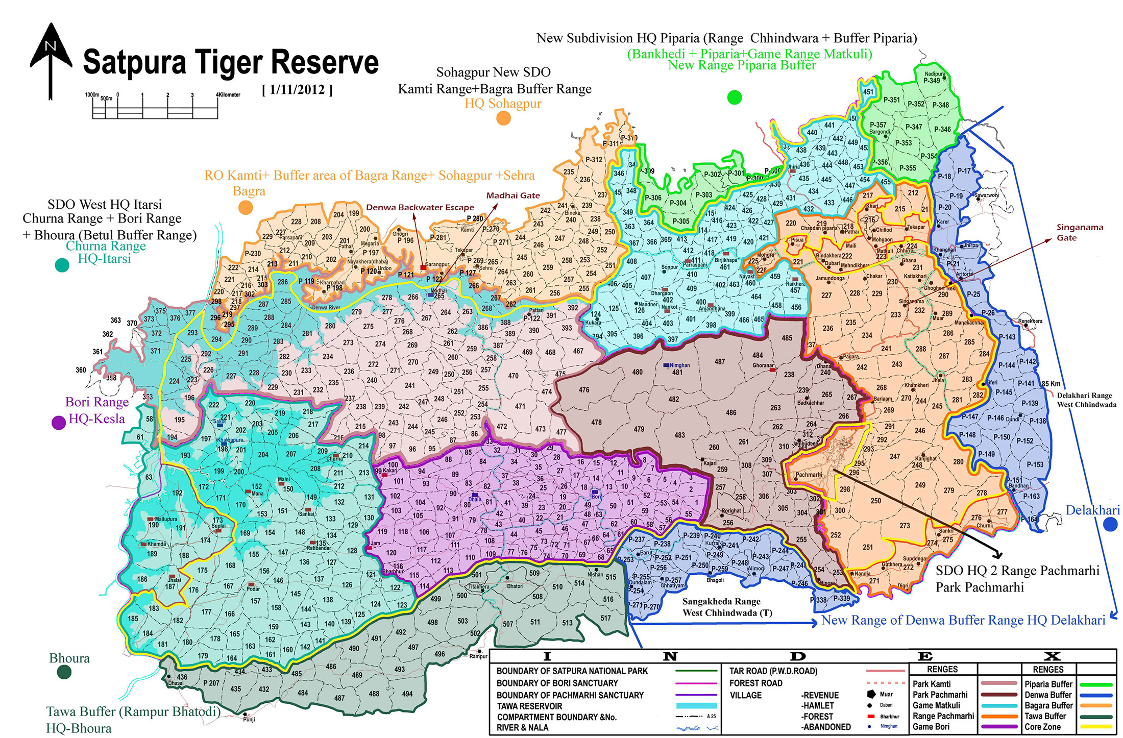 Satpura National Park Map