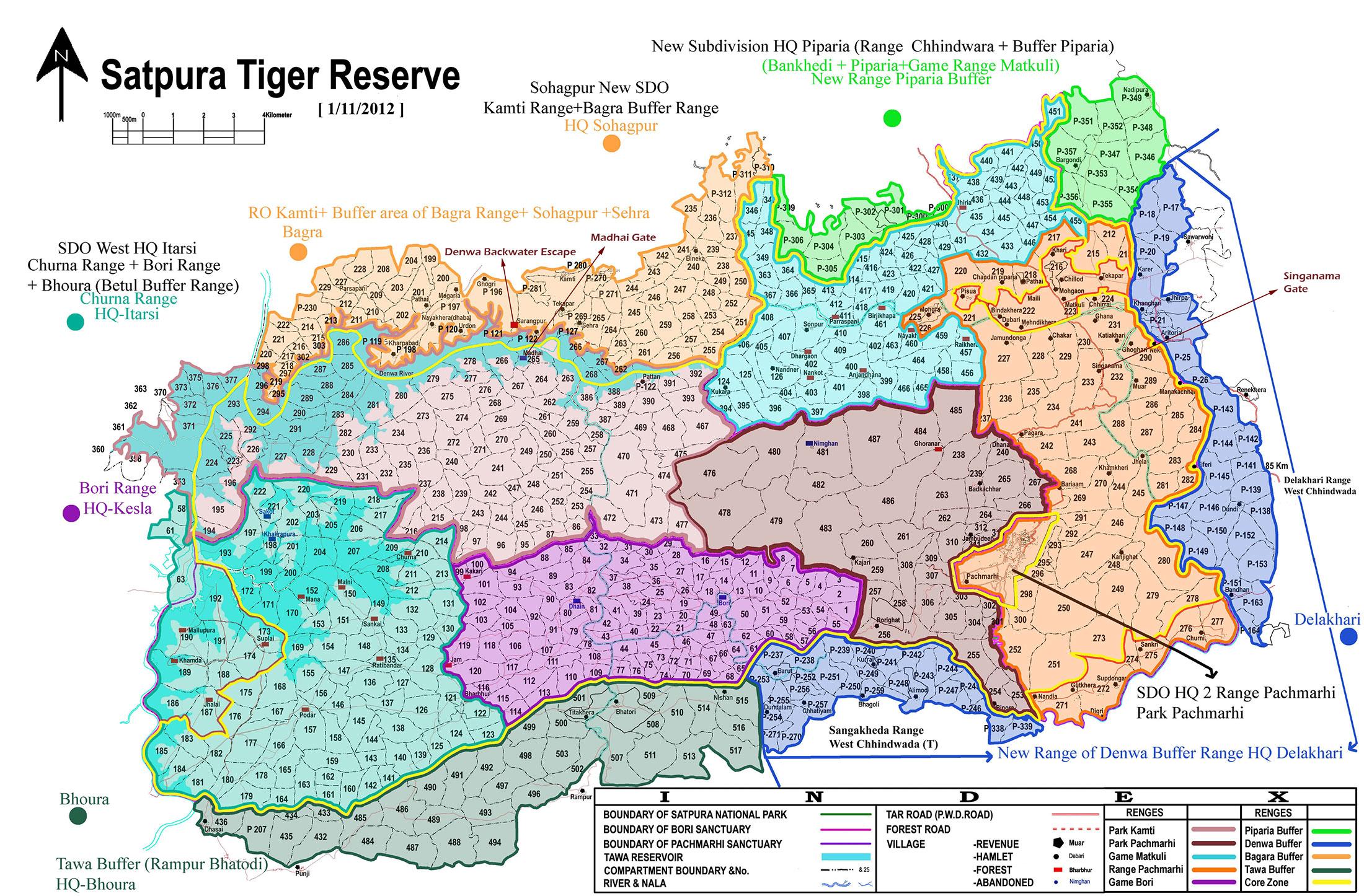 Satpura National Park Map